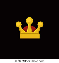 Crown Icon in Flat Design Style. Vector