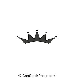 Crown Icon in trendy flat style isolated on grey background. Crown symbol for your web site design, logo, app, UI. Vector illustration.