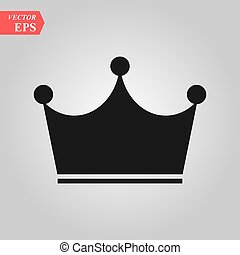 Crown Icon in trendy flat style isolated on grey background. Crown symbol for your web site design, logo, app, UI. Vector illustration, EPS10.