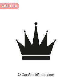 Crown Icon in trendy flat style isolated on grey background. Crown symbol for your web site design, logo, app, UI. Vector illustration,
