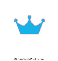Crown Icon in trendy flat style isolated on white background. Crown symbol for your web site design, logo, app, UI. Vector illustration, EPS 10.