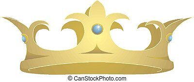 Crown Icon in trendy flat style isolated on white background. Crown symbol Vector illustration EPS10.