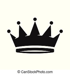 Crown Icon in trendy flat style isolated on white background. Royal symbol for your web site design, logo, app, UI. Vector illustration