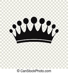 Crown Icon in trendy flat style isolated. Royal symbol for your web site design, logo, app, UI. Vector illustration