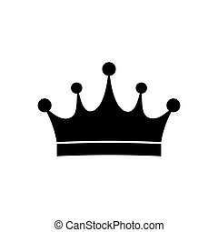 Crown icon isolated on white background. Vector illustration