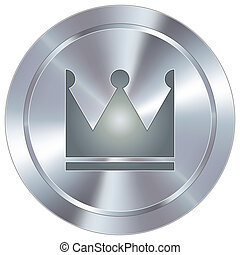 Crown icon on industrial button