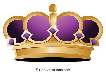 crown illustration design over a white background