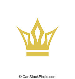 Crown - abstract medieval crown on a white background
