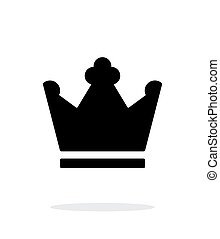 Crown King icon on white background. Vector illustration.
