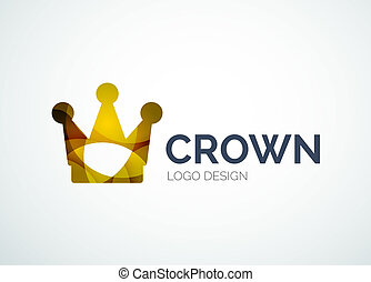 Crown logo, royal symbol, abstract design