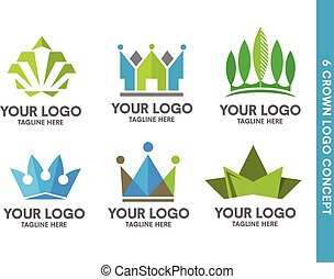 Crown logo set