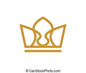 Crown Logo Template vector icon