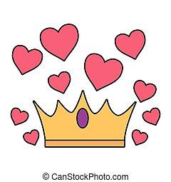 crown love hearts