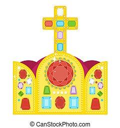 crown of byzantine emperor - Large golden royal crown...