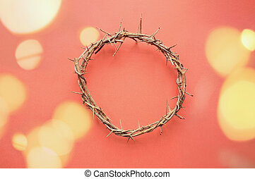 Crown of Jesus with Blood Droplets