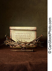 Crown of Thorns and Nails With Bible Verse