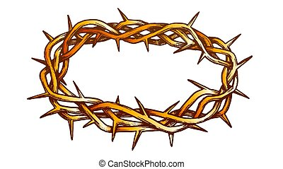 Crown Of Thorns Jesus Christ Color Vector