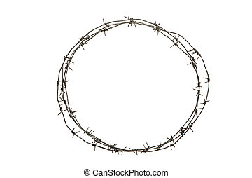 Crown of thorns - Image of round diadem made up of barbed...