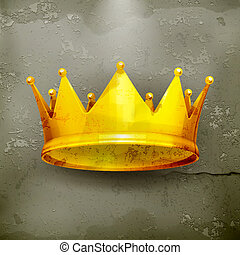 Crown, old-style vector