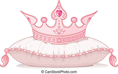 Crown on the pillow - Adorable crown on the pillow