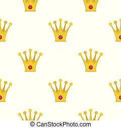 Crown pattern seamless