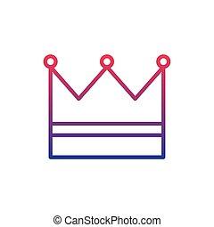 crown royal fantasy line gradient icon