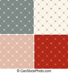 Crown royal seamless pattern vector