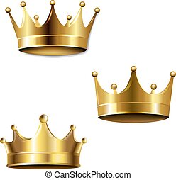 Crown Set Isolated White Background