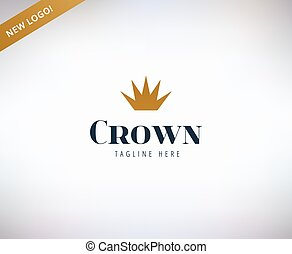 Crown shape vector logo icon. King, leader, boss and...