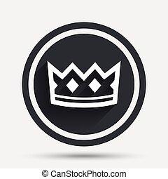 Crown sign icon. King hat symbol.