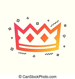 Crown sign icon. King hat symbol. Vector