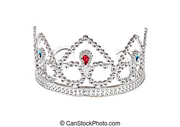Crown  - Silver Crown, photo on white background