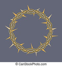 Crown Thorns of Christ Illustration - An illustration of a...