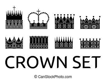Crown vector set