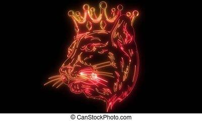 crown., vidéo, panthère, conception