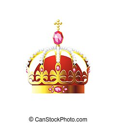 Crown with a gold cross