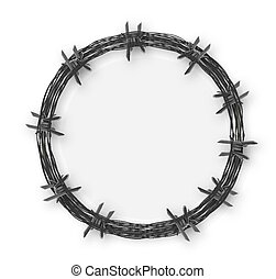 Crown with barbed wire