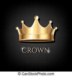 Crown With Black Background