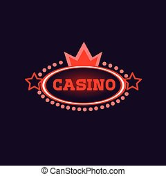 Crowned Casino Neon Sign