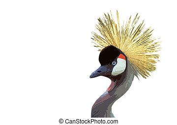 crowned crane art