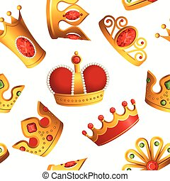 Crowns pattern - seamless modern material design background