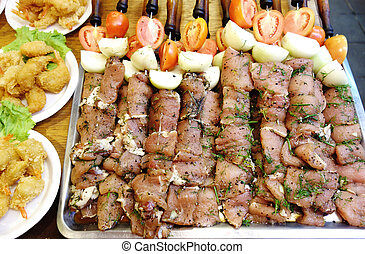 cru, chiche-kebab