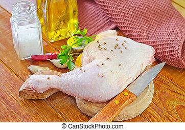 cru, galinha