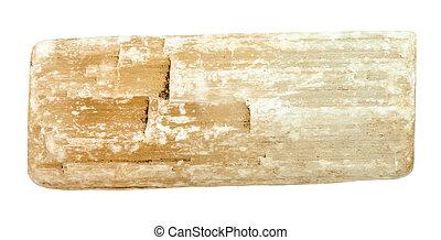 cru, selenite, isolé, (gypsum), cristal
