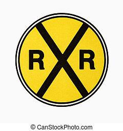 cruce ferrocarril, signo.