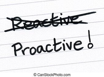 cruce, proactive., afuera, reactivo, escritura