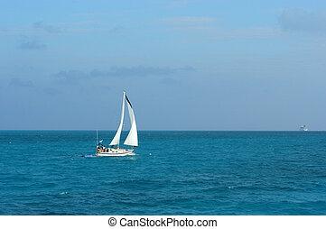 crucero, en, paraíso