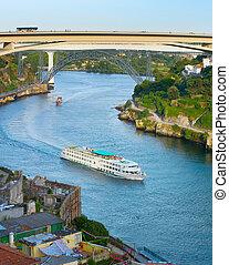 crucero, ship., douro, river., porto