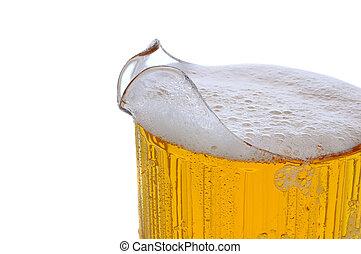 cruche, bière, closeup