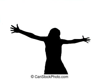 crucifié, femme